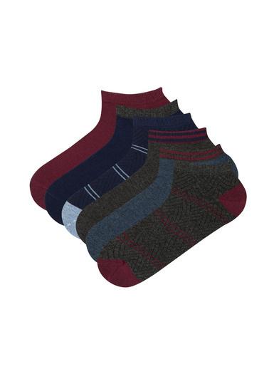 Penti Erkek Çok Renkli Erkek Zıgza Çorap Seti PH1H2D3K21IY Renkli